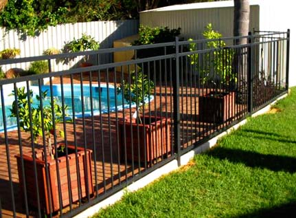Steel Fencing, pool fencing, gates, front and side fences.