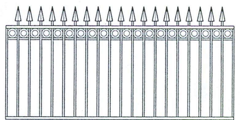 Steel Fencing Designs Steel fencing pool fencing gates front and side fences spear head with ring workwithnaturefo